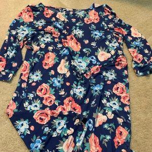 Mary Square 3/4 sleeve dress